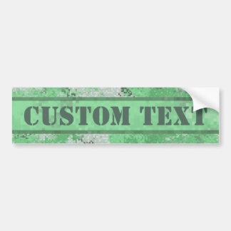 Gröna Digi Camo med beställnings- text Bildekal