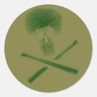 Gröna döda Larry Runt Klistermärke