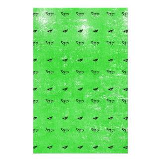 Gröna fjärilar brevpapper