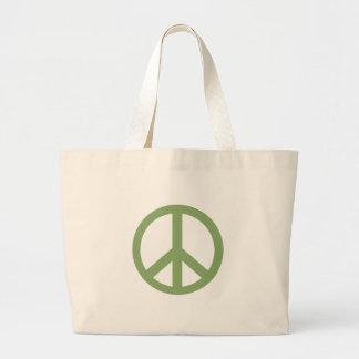 Gröna fredsteckenprodukter för armé jumbo tygkasse