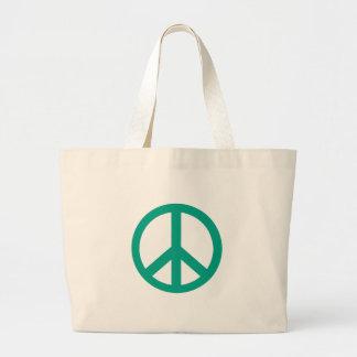 Gröna fredsteckenprodukter för kricka jumbo tygkasse