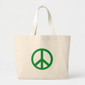 Gröna fredsteckenprodukter jumbo tygkasse