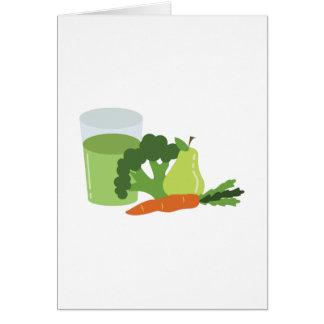 Gröna fruktsaftVeggies Hälsningskort