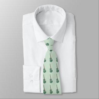Gröna gitarrer på mintgrönt slips