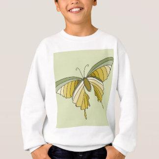 Gröna guld- fjärilsformgivaregåvor tröjor