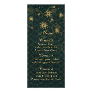 gröna guld- kort för meny för