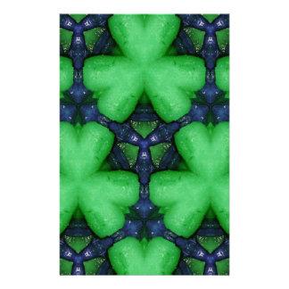 Gröna irländska Shamrocks Brevpapper