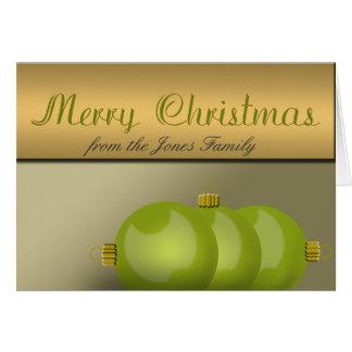 Gröna julprydnadar för limefrukt hälsningskort