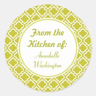 Gröna kökklistermärkear för vår runt klistermärke