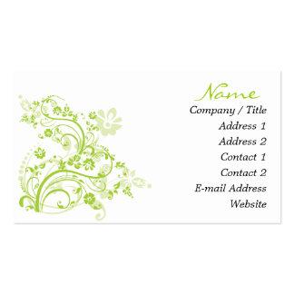 Gröna krusidullvisitkortar visitkort mallar