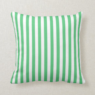 Gröna lodrätrandar för smaragd; Randigt Kudde