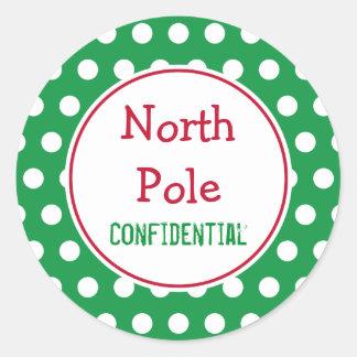 Gröna nordpolenjulklistermärkear runt klistermärke