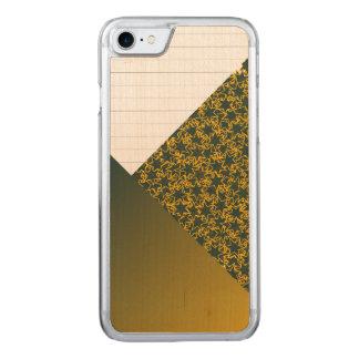 Gröna och guld- färger för sportar för carved iPhone 7 skal