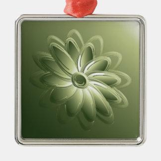 gröna petals julgransprydnad metall