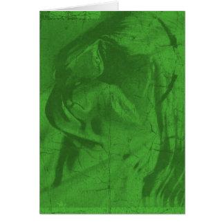 Gröna reflexioner hälsningskort