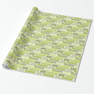 Gröna Retro kvarter för trendig Presentpapper