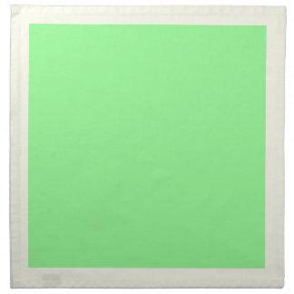 Gröna servetter för elfenben och för Mint