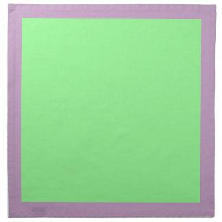 Gröna servetter för lila och för Mint