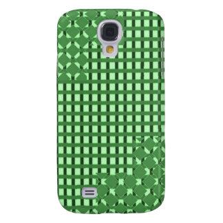 Gröna sq rectmönster för diamant n. LOWPRICE LAGER Galaxy S4 Fodral
