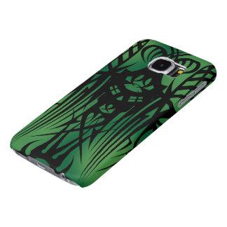 Gröna stam- fodral för galax S6 Samsung Galaxy S6 Fodral
