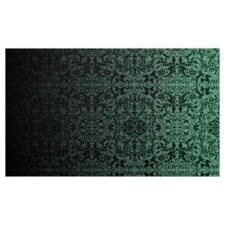 Gröna/svart LOPc för Ombre damast Tyg