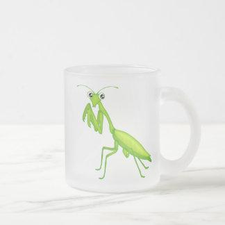 Gröna tecknadbönsyrsamuggar och Drinkware Frostad Glasmugg