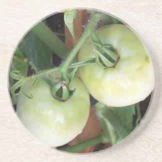 Gröna tomater underlägg sandsten