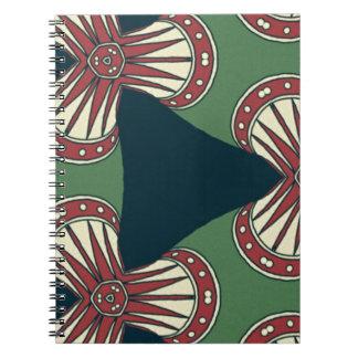 Gröna trianglar anteckningsbok med spiral