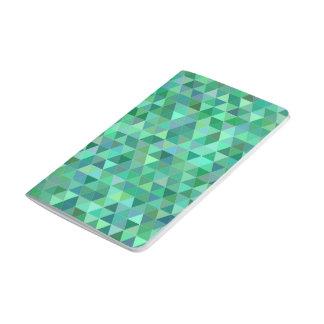 Gröna trianglar för pastell anteckningsbok