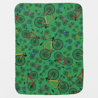 Gröna vägcyklar bebisfilt
