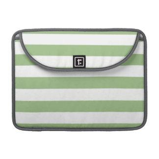 Gröna vågrätrandar för lagrar sleeve för MacBooks