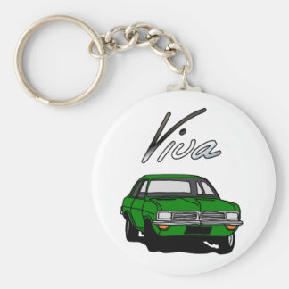 Gröna Vauxhall Viva HC Rund Nyckelring