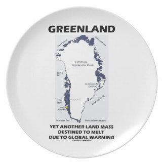 Grönland som ännu en land samlas destinerat för tallrik