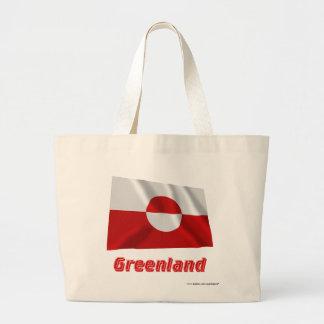 Grönland som vinkar flagga med namn kasse