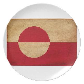 Grönlandflagga Tallrik