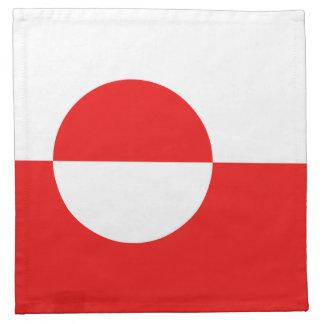 Grönlandflaggaservett Tygservett