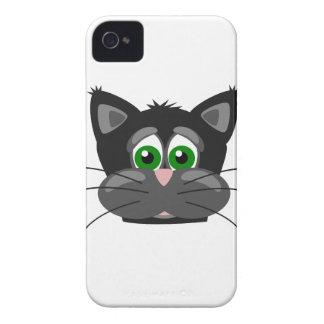 Grönögd svart katt Case-Mate iPhone 4 skydd