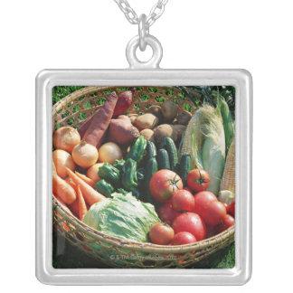 Grönsaker 5 silverpläterat halsband