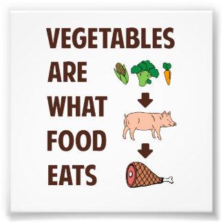 Grönsaker är vad mat äter fototryck