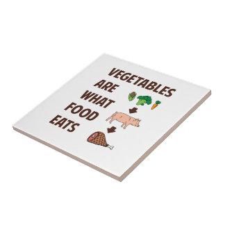 Grönsaker är vad mat äter kakelplatta