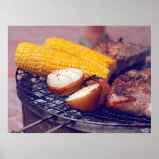Grönsaker och kött poster