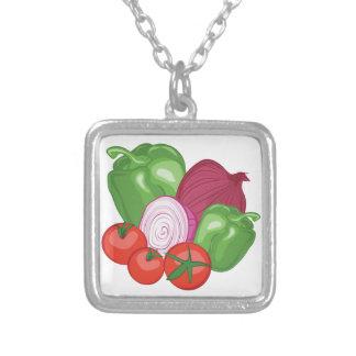 Grönsaker Silverpläterat Halsband