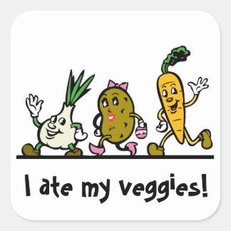Grönsaker/Veggie åt min Fyrkantigt Klistermärke