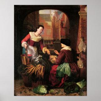 Grönsaksäljare Poster