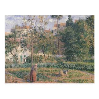 Grönsakträdgård på eremitboningen vykort