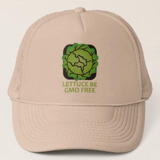 Grönsallat är l5At oss är logotyphatten för GMO Truckerkeps