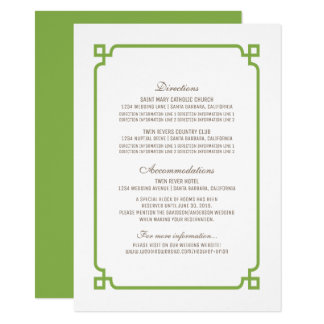 GrönskaDeco chic gifta sig info kort 11,4 X 15,9 Cm Inbjudningskort