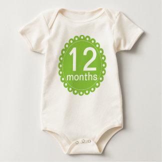 Grönt 12 månader gamlingranka krypdräkt