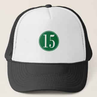 Grönt #15 cirklar truckerkeps