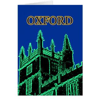 Grönt 1986 för Oxford England byggnadspiraler Hälsningskort